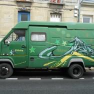 Street art Bordeaux, Peinture Fresh, camion