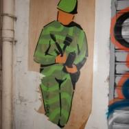 Street art Bordeaux, soldat inconnu