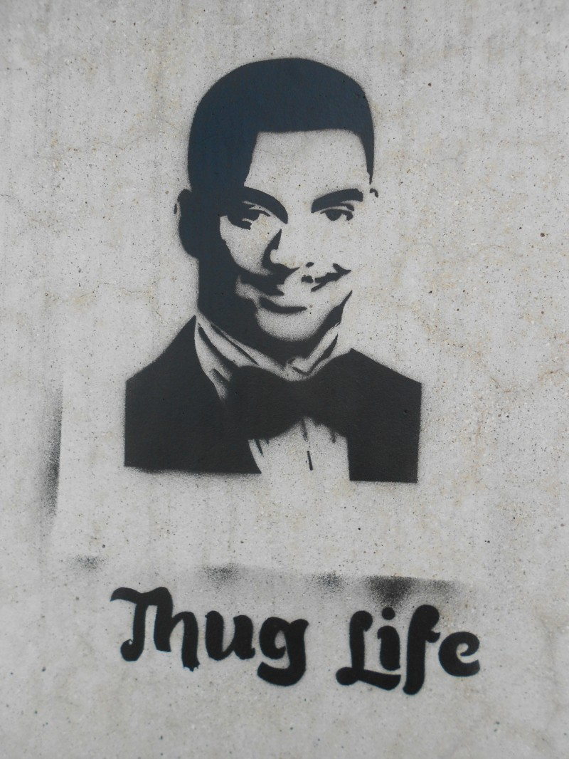 thug life faire le murfaire le mur street art bordeaux et ailleurs. Black Bedroom Furniture Sets. Home Design Ideas