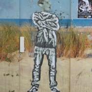 Street art Bordeaux, silhouette