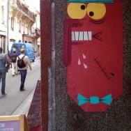 bonhomme street art bordeaux